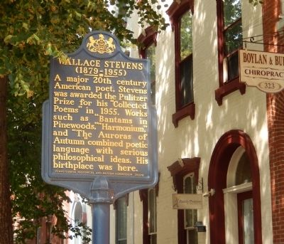Wallace Stevens Marker image. Click for full size.