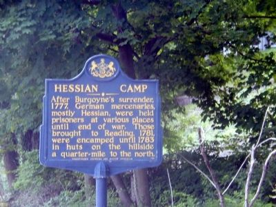 Hessian Camp Marker image. Click for full size.