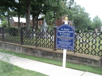 St. Peter's Episcopal Church & Cemetery Marker image. Click for full size.
