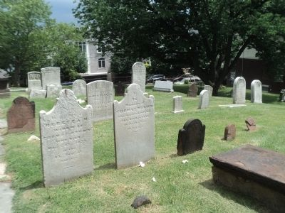Tombstones in St. Peter's Cemetery image. Click for full size.