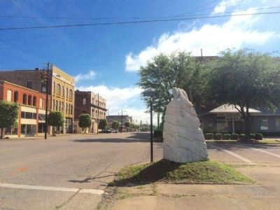 Area view of marker looking East on Alabama Avenue. image. Click for full size.