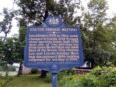 Exeter Friends Meeting Marker image. Click for full size.