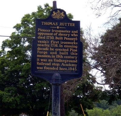 Thomas Rutter Marker image. Click for full size.