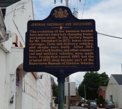 Jeremiah Sweinhart and Successors Marker image. Click for full size.