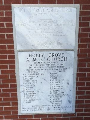 Holly Grove African Methodist Episcopal Church additional marker image. Click for full size.