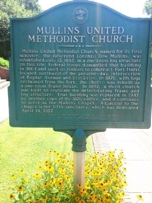 Mullins United Methodist Church Marker image. Click for full size.