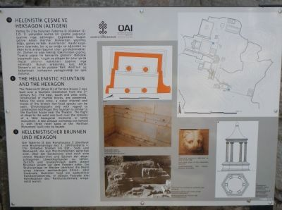 The Hellenistic Fountain and the Hexagon Marker image. Click for full size.