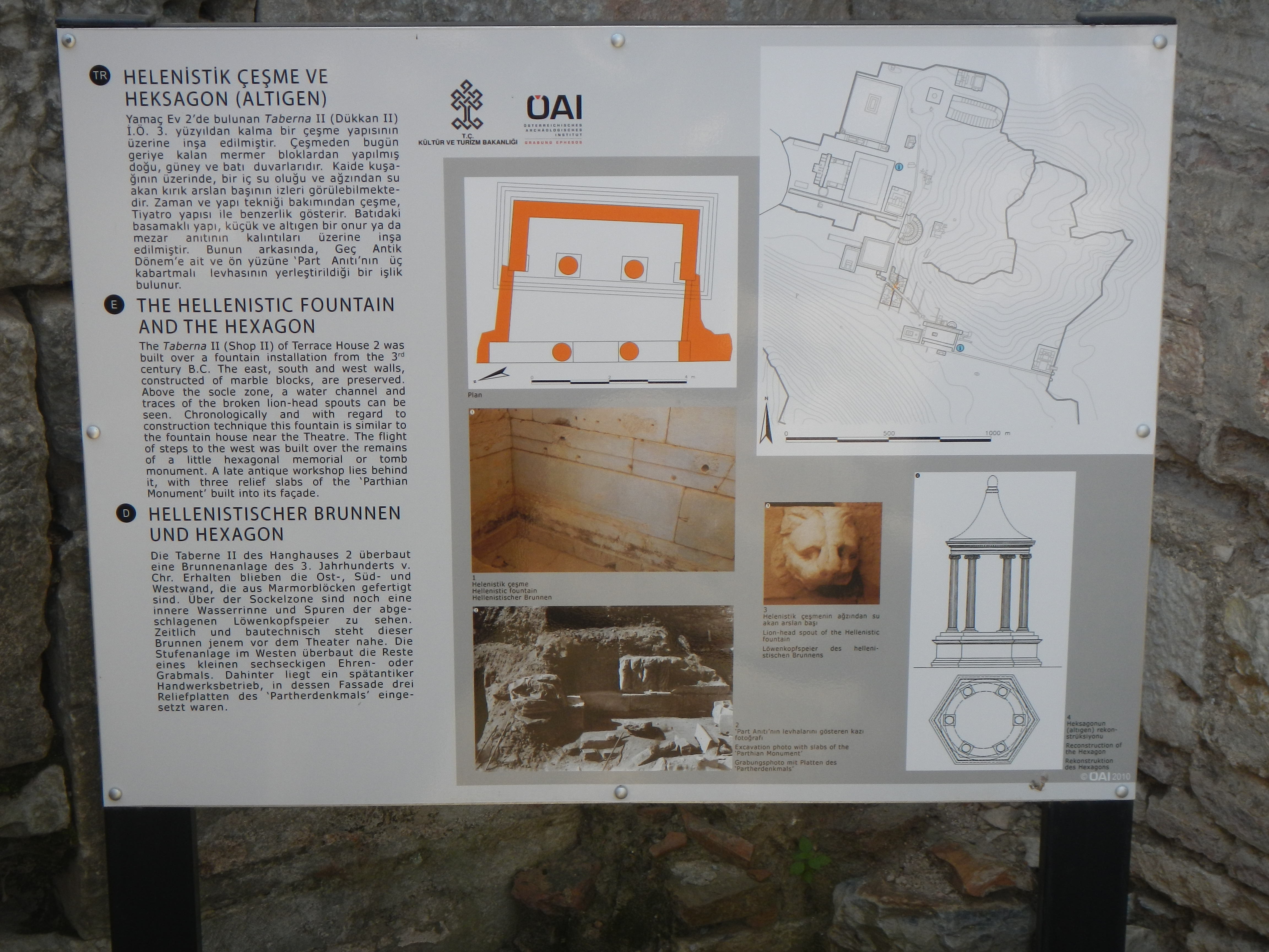 The Hellenistic Fountain and the Hexagon Marker