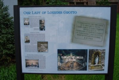 Our Lady of Lourdes Grotto Marker image. Click for full size.