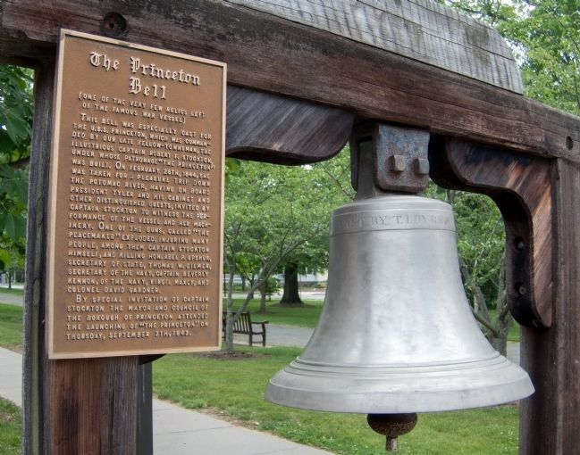 The Princeton Bell Marker and Bell image. Click for full size.