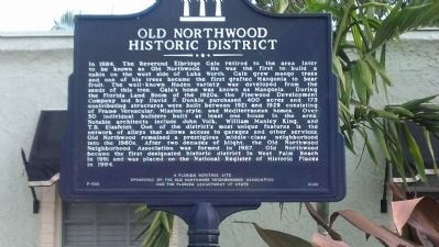 Old Northwood Historic District Marker image. Click for full size.