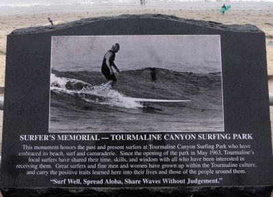Surfer's Memorial Marker image. Click for full size.