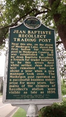 Jean Baptiste Recollect Trading Post Marker image. Click for full size.