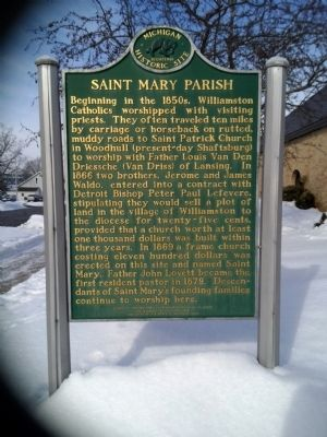 Saint Mary Parish Marker - side 1 image. Click for full size.