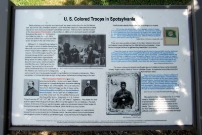 U. S. Colored Troops in Spotsylvania Marker image. Click for full size.