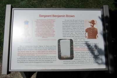 Sergeant Benjamin Brown Marker image. Click for full size.