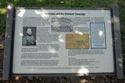 The Wilderness and the Overland Campaign Marker image. Click for full size.