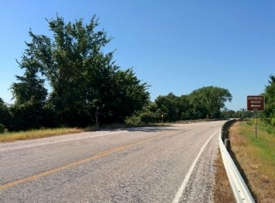 Location of Gotcher Trace Marker, looking south on FM 1291. image. Click for full size.