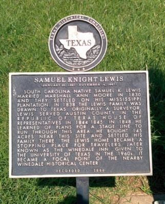 Samuel Knight Lewis Marker image. Click for full size.