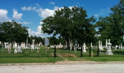 Old City Cemetery and Marker image. Click for full size.