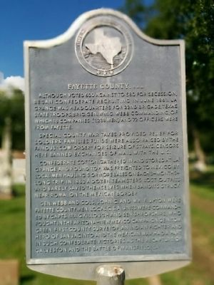 Fayette County, C.S.A Marker image. Click for full size.