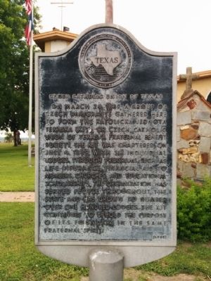 Czech Catholic Union of Texas Marker image. Click for full size.