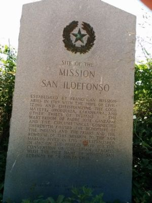 Site of Mission San Ildefonso Marker image. Click for full size.