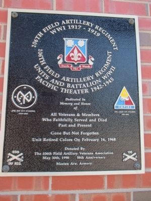 106th Field Artillery Regiment Memorial image. Click for full size.