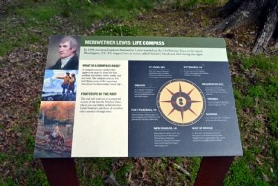 Meriwether Lewis: Life Compass Marker image. Click for full size.