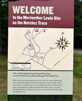 Map of Meriwether Lewis Site on the Natchez Trace image. Click for full size.