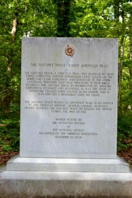 The Natchez Trace – Early American Trail Marker image. Click for full size.