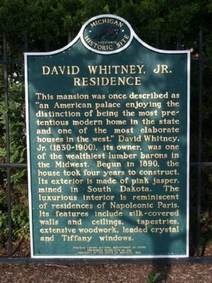 David Whitney, Jr. Residence Marker image. Click for full size.