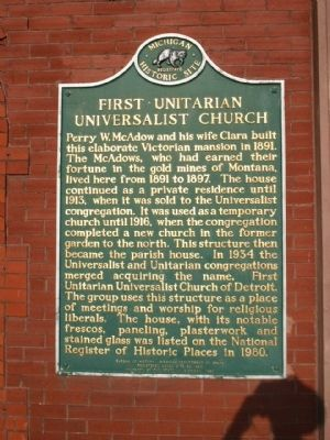 First Unitarian Universalist Church Marker image. Click for full size.