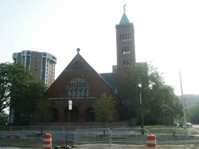 First Congregational Church of Detroit - from M-1 (Woodward Avenue) image. Click for full size.
