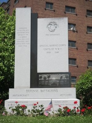 Special Marine Corps Units of W.W.II Memorial image. Click for full size.