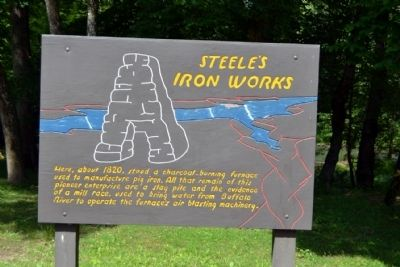 Steele's Iron Works Marker image. Click for full size.