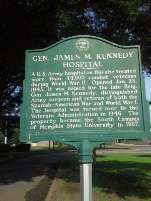 Gen. James M. Kennedy Hospital Marker image. Click for full size.