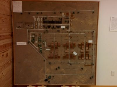 Model of Camp Hearne in the museum building. image. Click for full size.