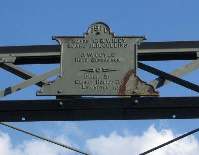Galloway Pike Iron Bridge Construction Plaque image. Click for full size.