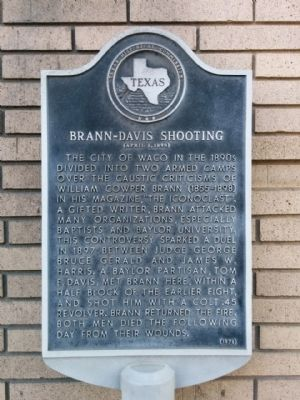 Brann-Davis Shootings Marker image. Click for full size.
