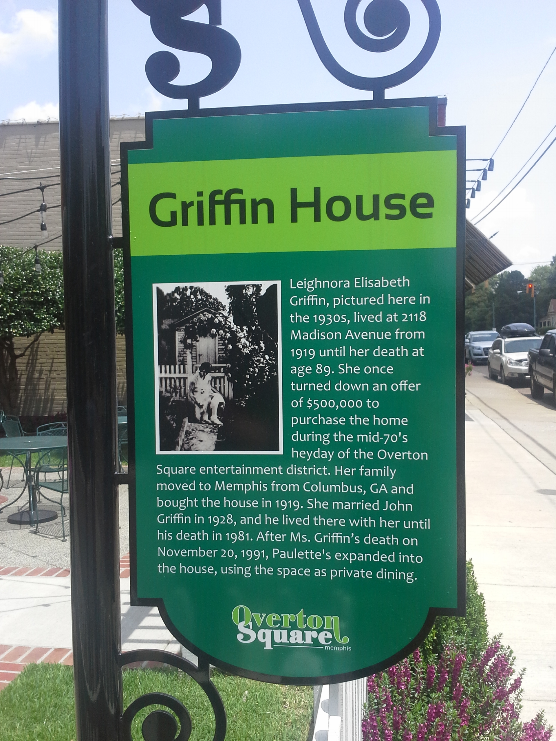 Griffin House Marker
