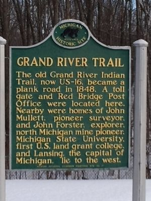 Grand River Trail Marker image. Click for full size.