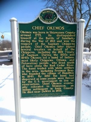 Chief Okemos Marker image. Click for full size.