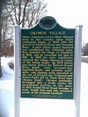 Okemos Village Marker image. Click for full size.