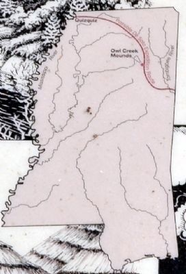 Possible Route of De Soto Expedition Through Mississippi image. Click for full size.