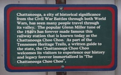 Chattanooga, a City of Historical Significance Marker image. Click for full size.
