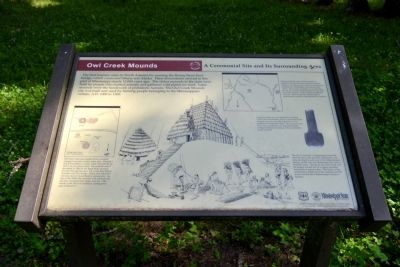 Owl Creek Mounds Marker image. Click for full size.