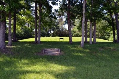 Marker in Front of Mound II image. Click for full size.