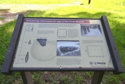 Archaeology Determines the Age of Owl Creek Mounds Marker image. Click for full size.
