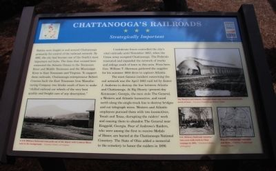 Chattanooga's Railroads Marker image. Click for full size.
